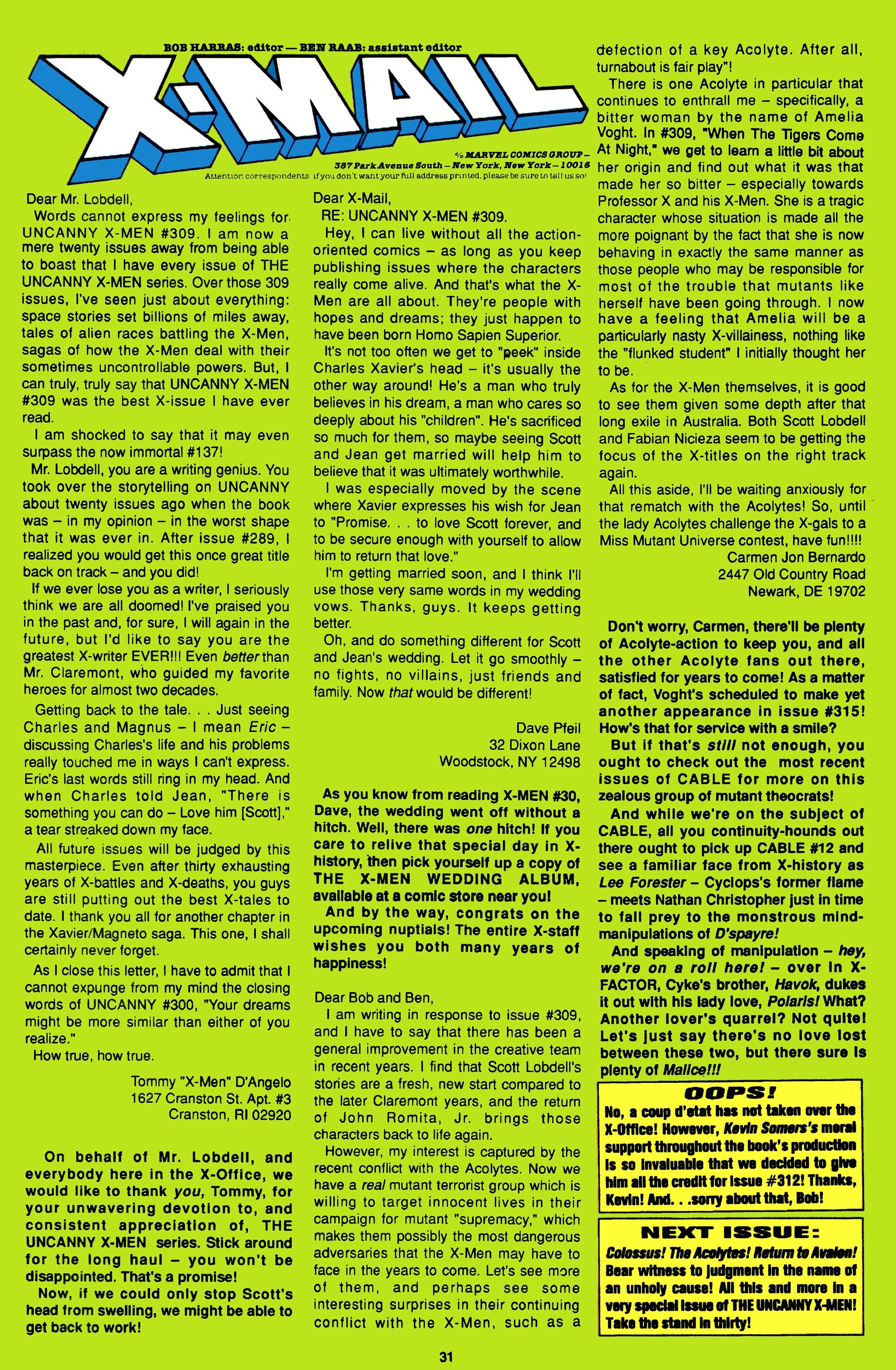 Read online Uncanny X-Men (1963) comic -  Issue #314 - 24