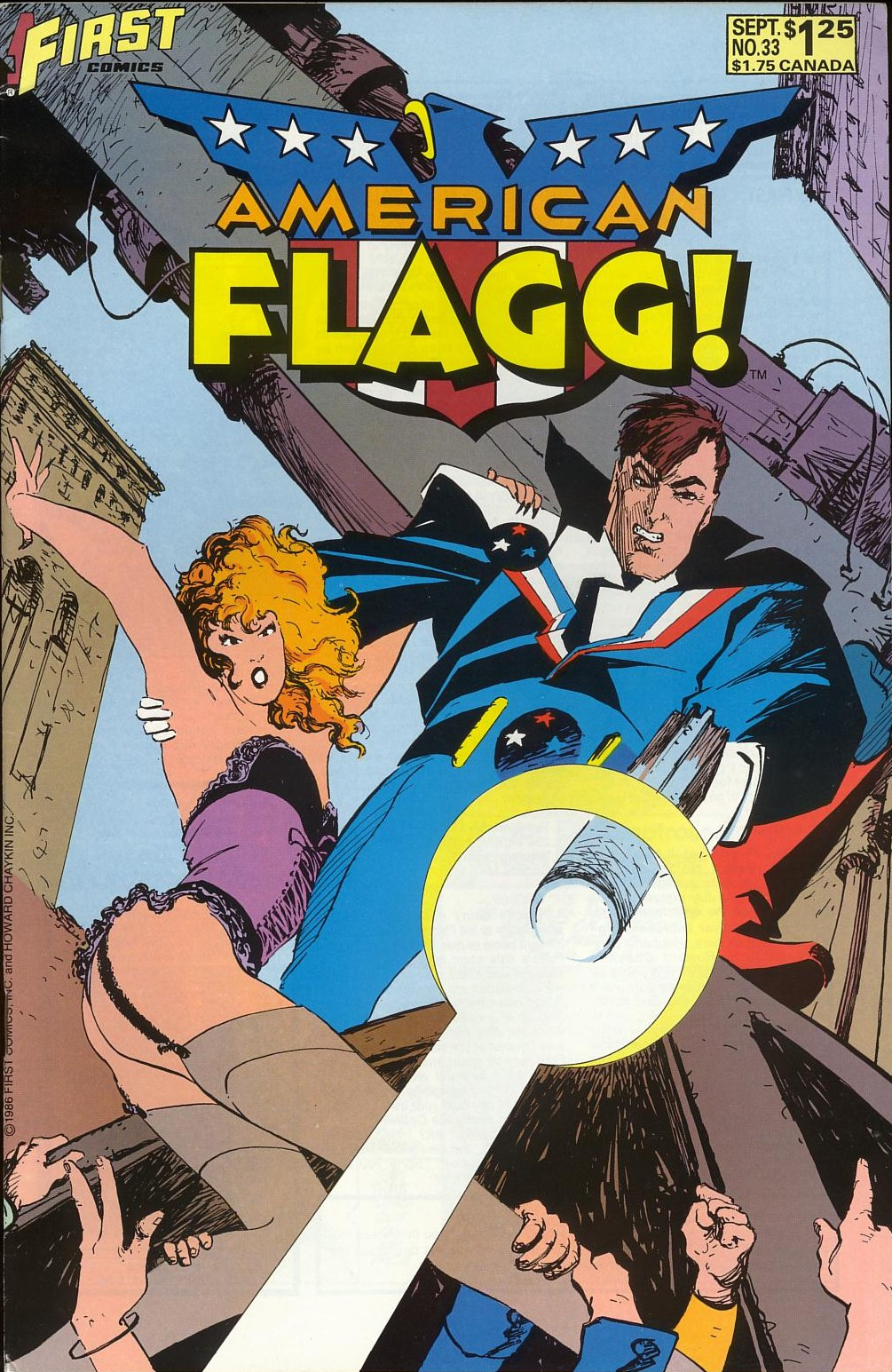 Read online American Flagg! comic -  Issue #33 - 1