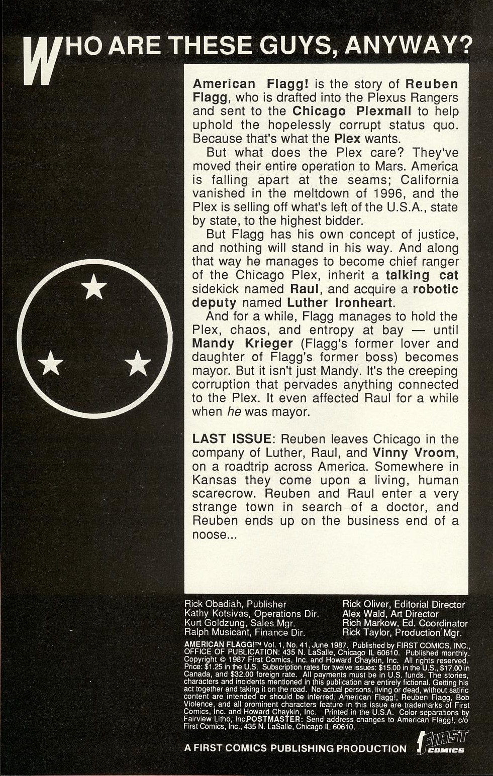 Read online American Flagg! comic -  Issue #41 - 2