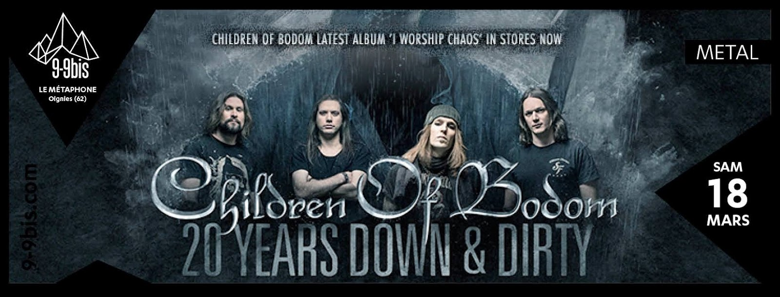 Children of Bodom + Forever Still + ONI @Le Métaphone, Oignies 18/03/2017