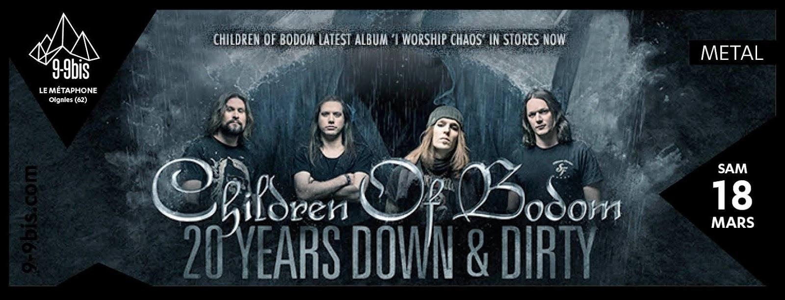 Children of Bodom + Forever Still + ONI @Le Métaphone, Oignies 18/03/2017