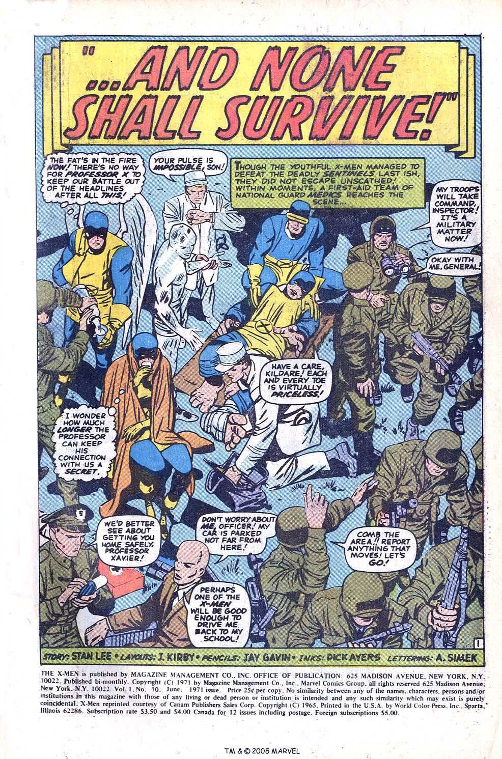 Uncanny X-Men (1963) issue 70 - Page 3