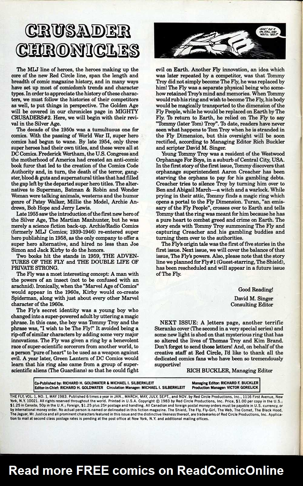 Read online The Fly (1983) comic -  Issue #1 - 2