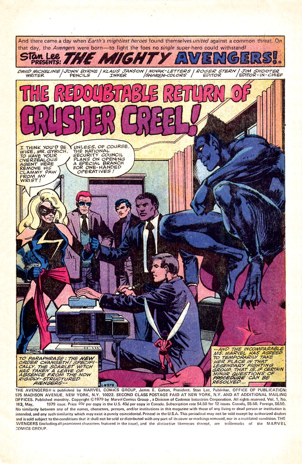 The Avengers (1963) 183 Page 1