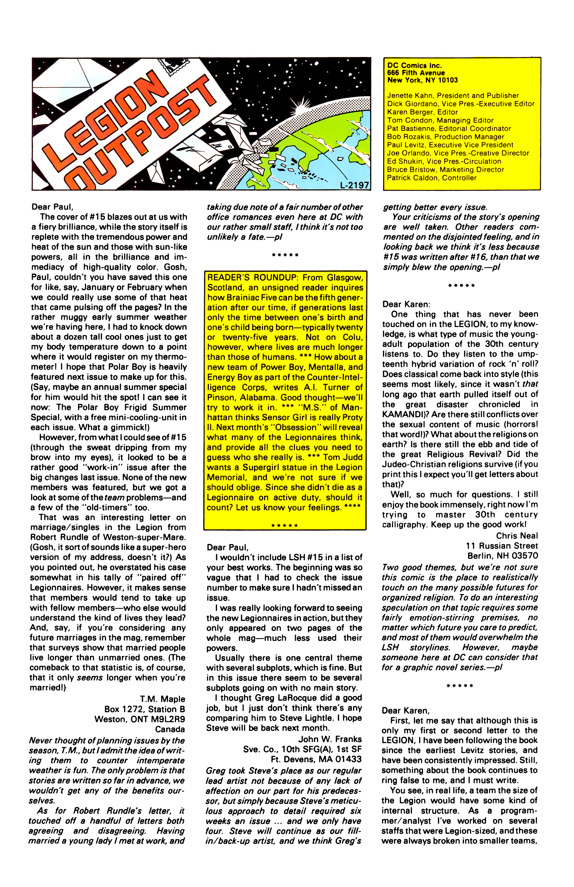 Legion of Super-Heroes (1984) 20 Page 30