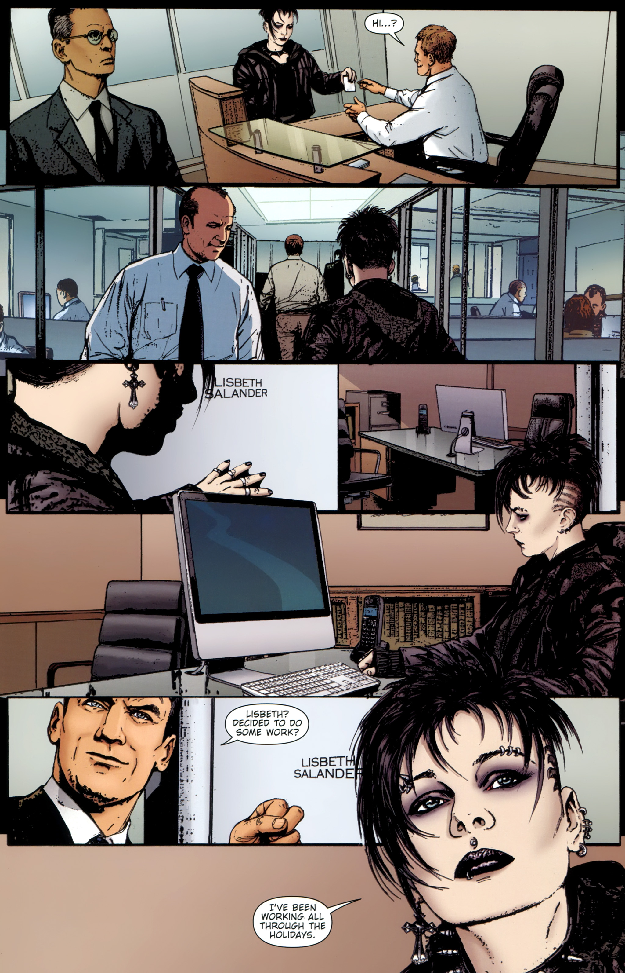 Read online The Girl With the Dragon Tattoo comic -  Issue # TPB 1 - 76