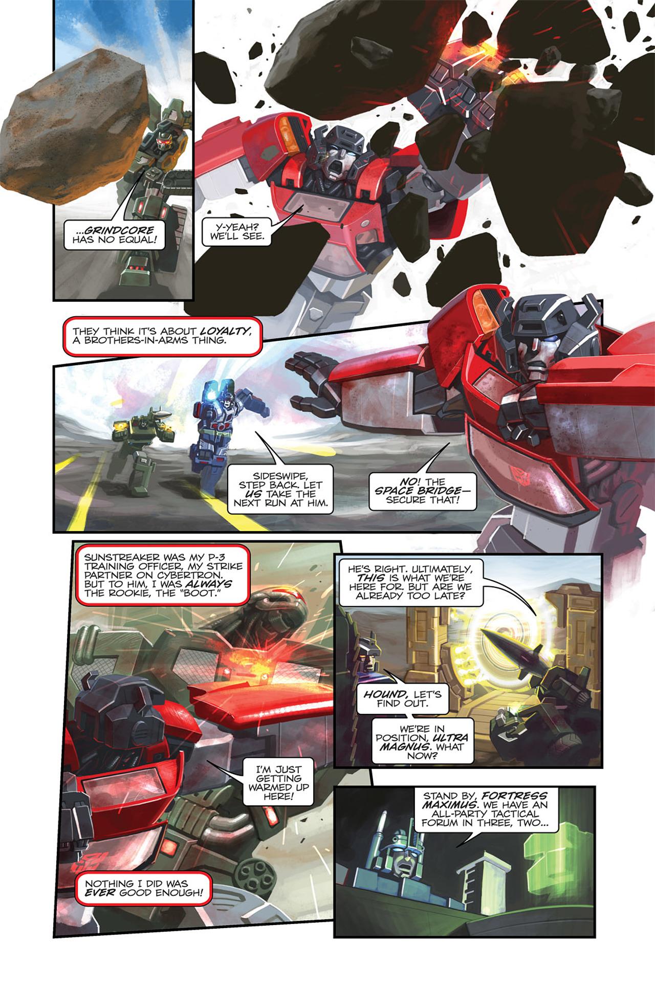 Read online Transformers Spotlight: Sideswipe comic -  Issue # Full - 7