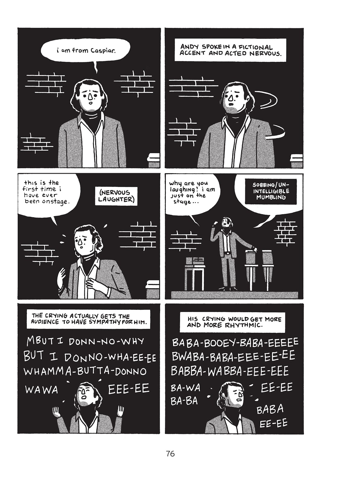 Read online Is This Guy For Real?: The Unbelievable Andy Kaufman comic -  Issue # TPB (Part 1) - 81