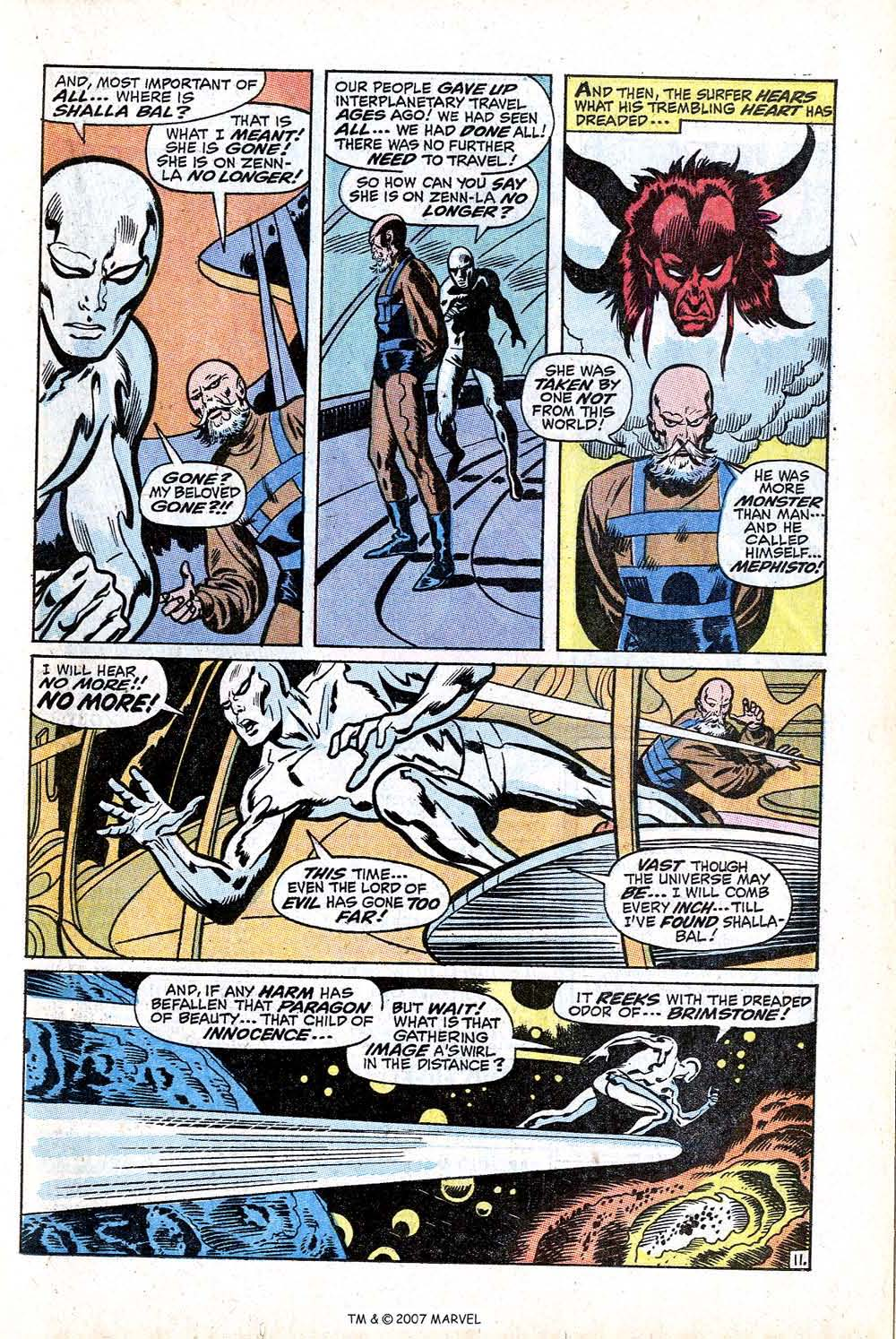 Read online Silver Surfer (1968) comic -  Issue #16 - 17