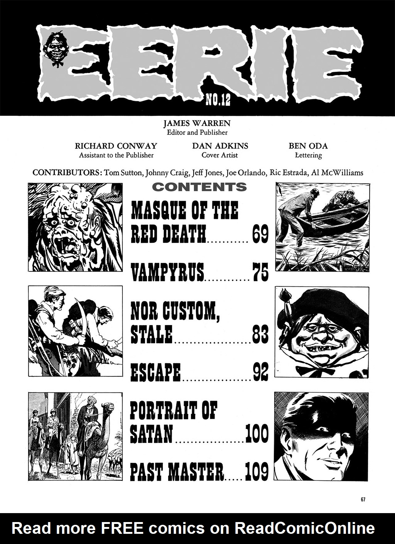 Read online Eerie Archives comic -  Issue # TPB 3 - 68
