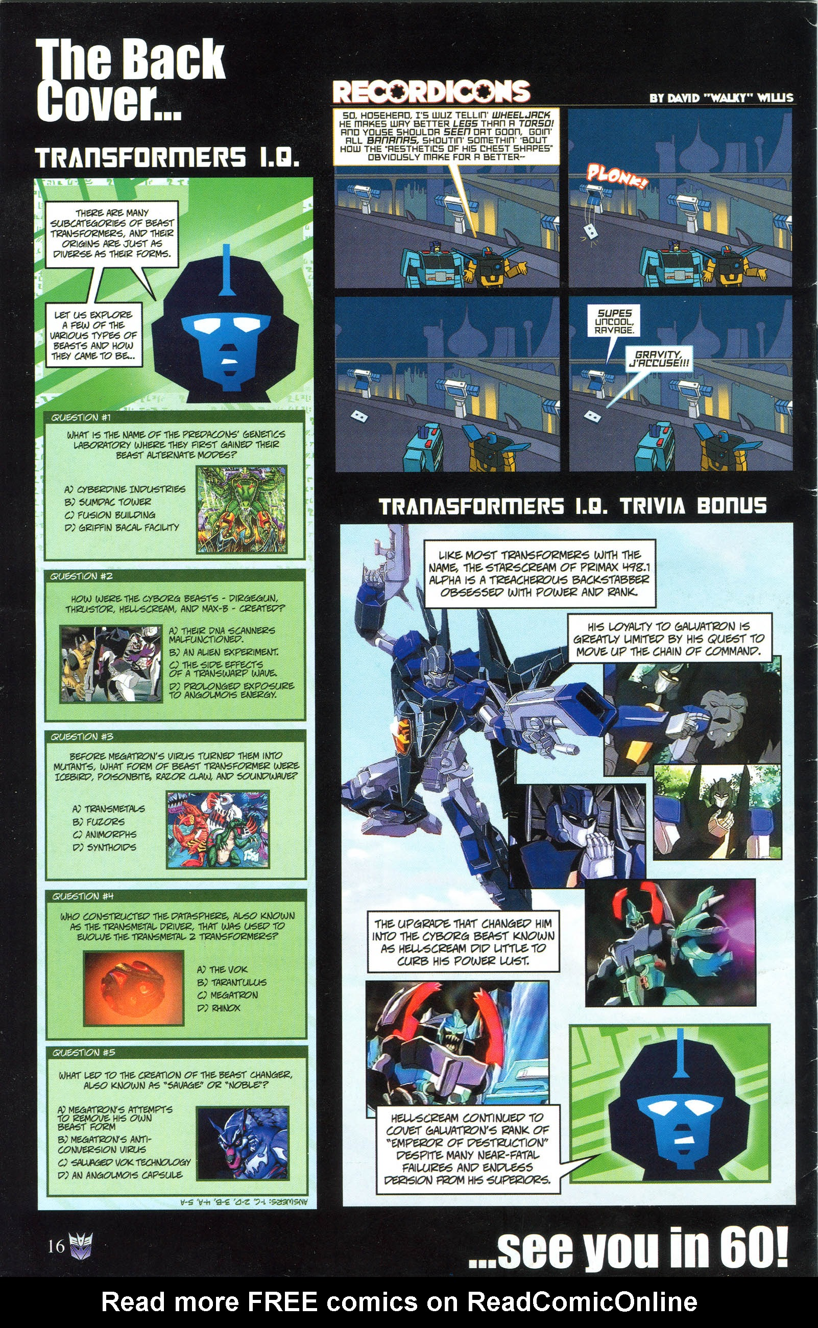 Read online Transformers: Collectors' Club comic -  Issue #50 - 16