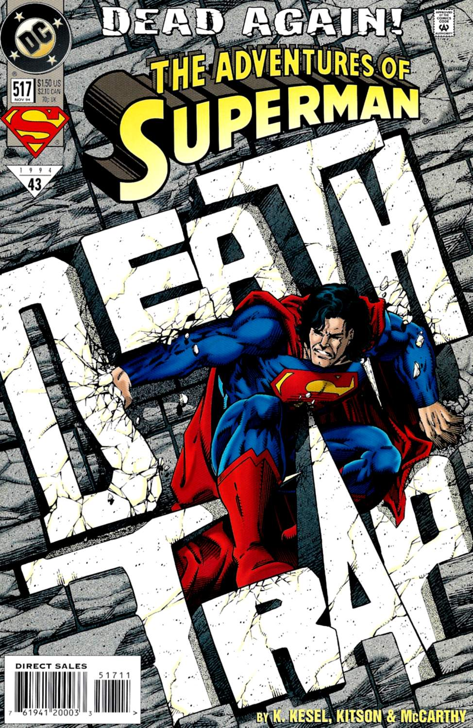 Read online Adventures of Superman (1987) comic -  Issue #517 - 1