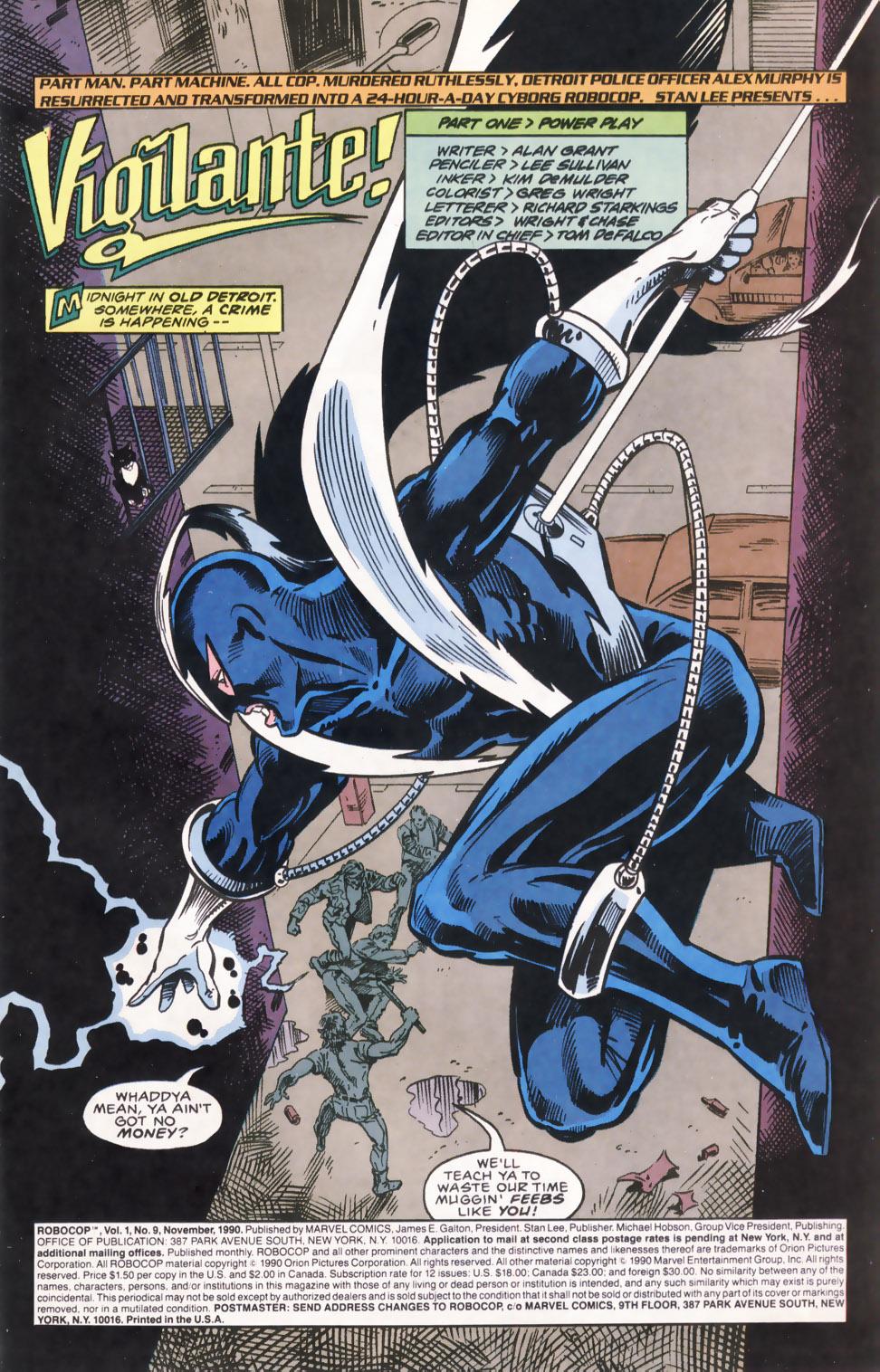 Read online Robocop (1990) comic -  Issue #9 - 2