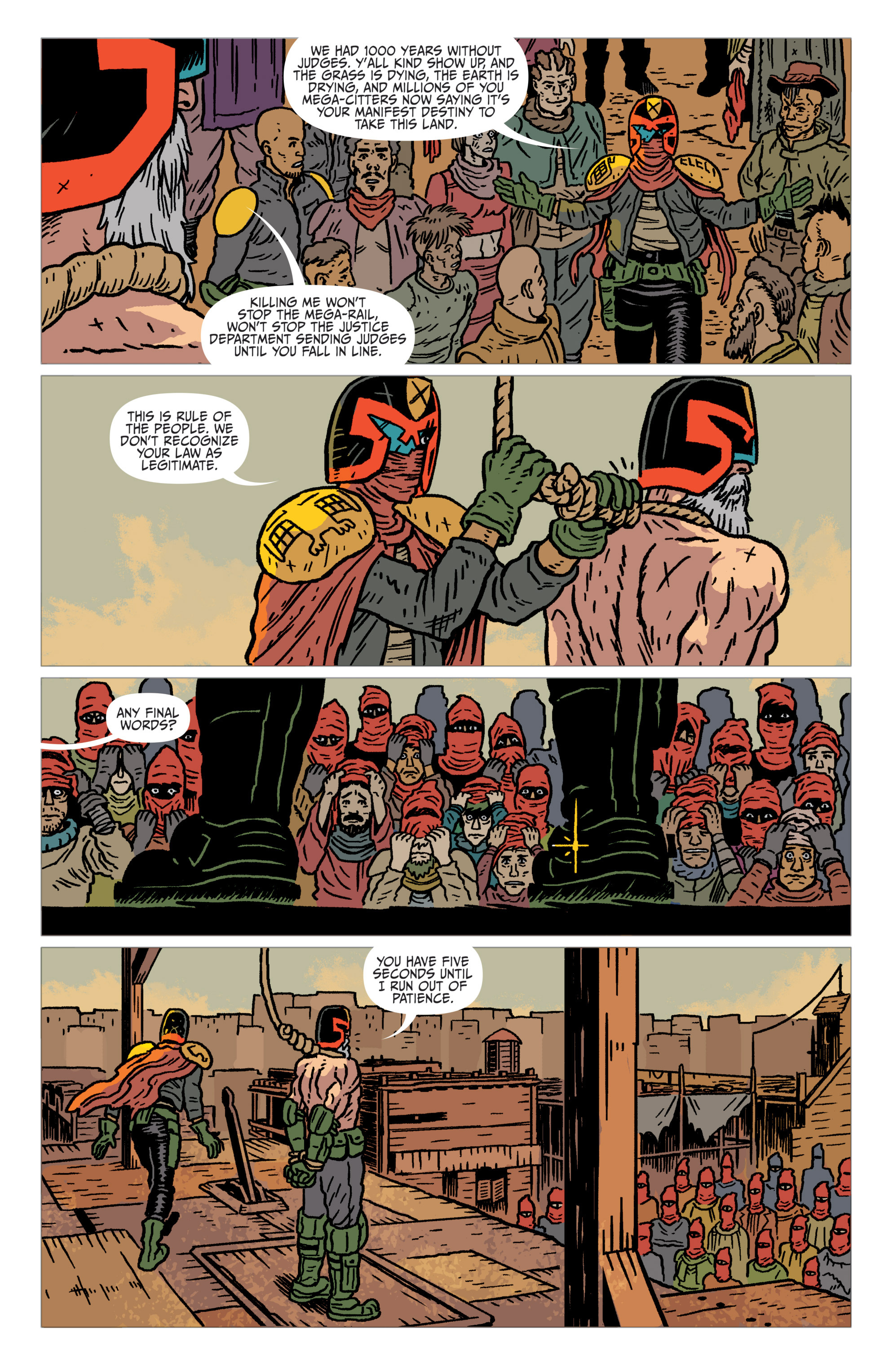 Read online Judge Dredd: The Blessed Earth comic -  Issue #1 - 17