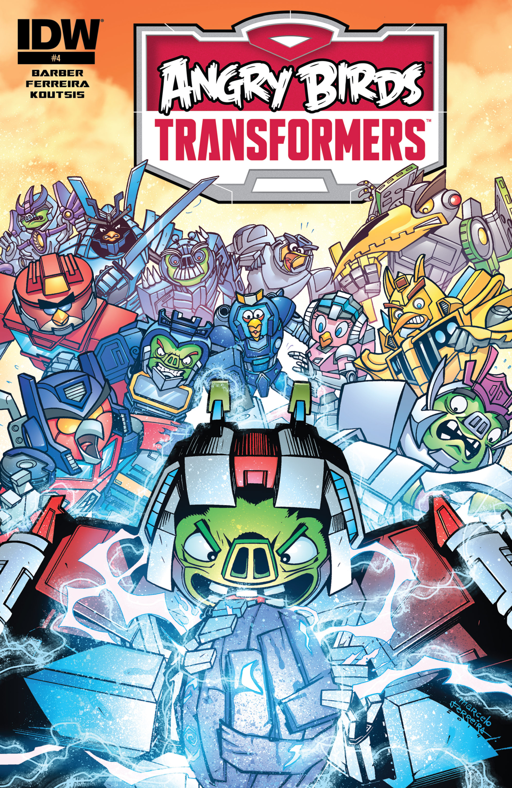 Read online Angry Birds Transformers comic -  Issue #4 - 1