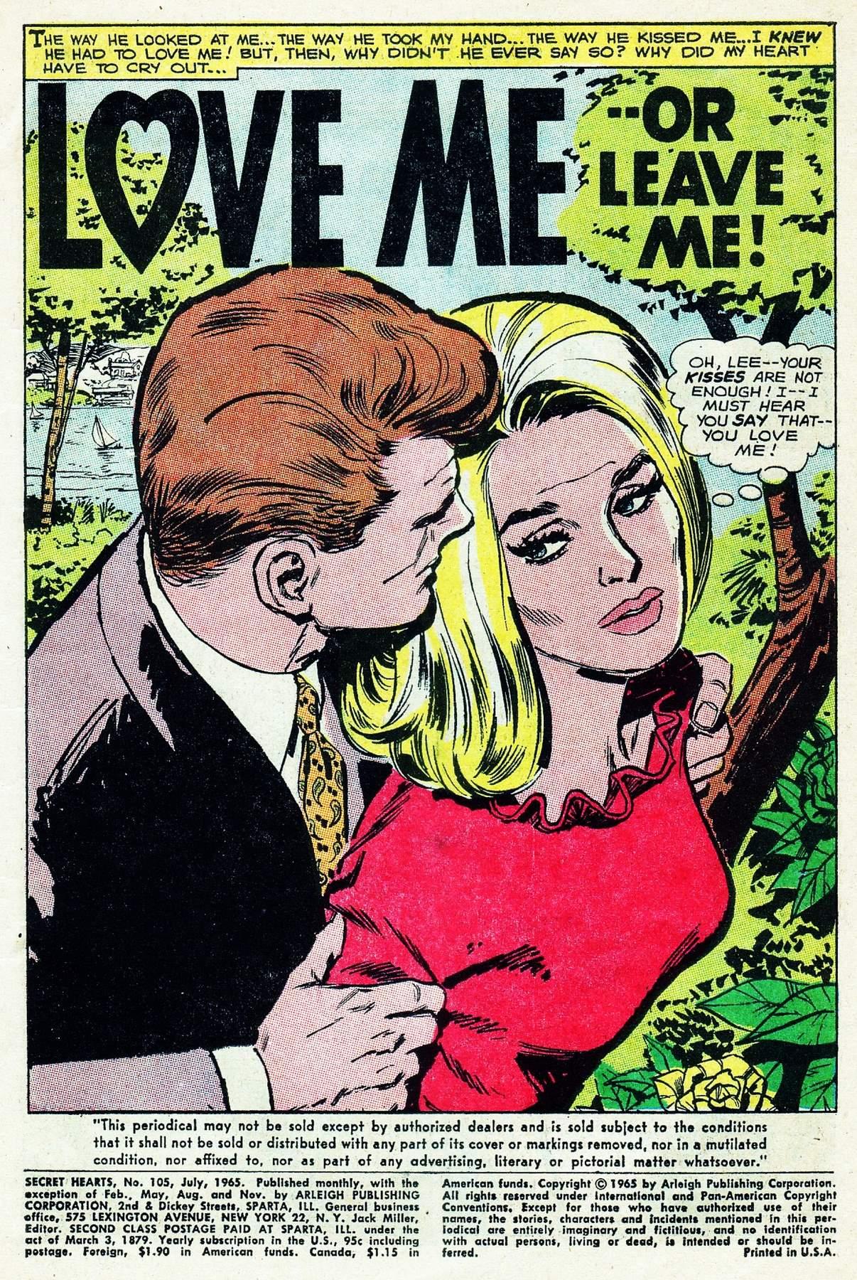Read online Secret Hearts comic -  Issue #105 - 3