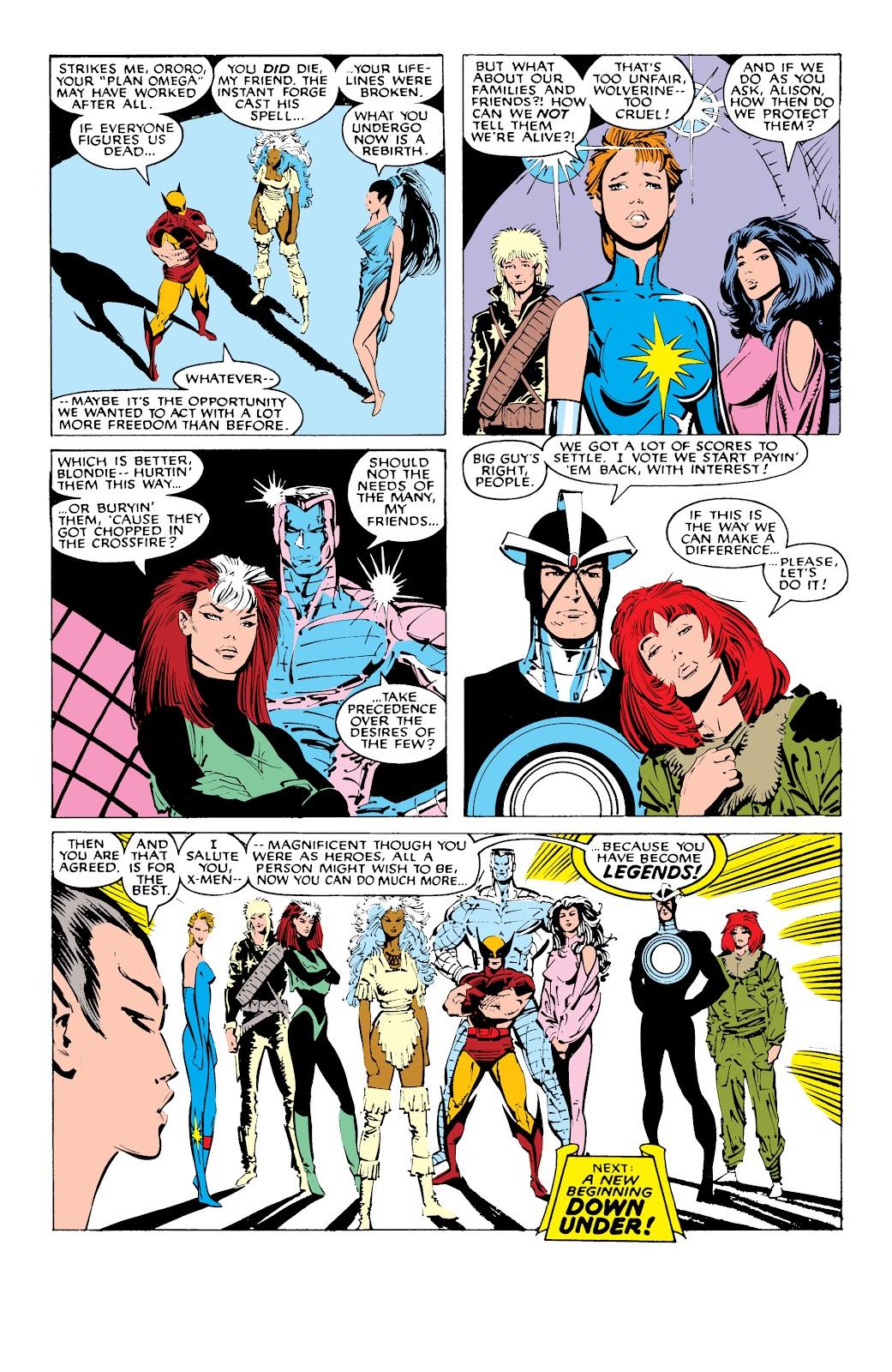 Read online X-Men Milestones: Fall of the Mutants comic -  Issue # TPB (Part 1) - 90