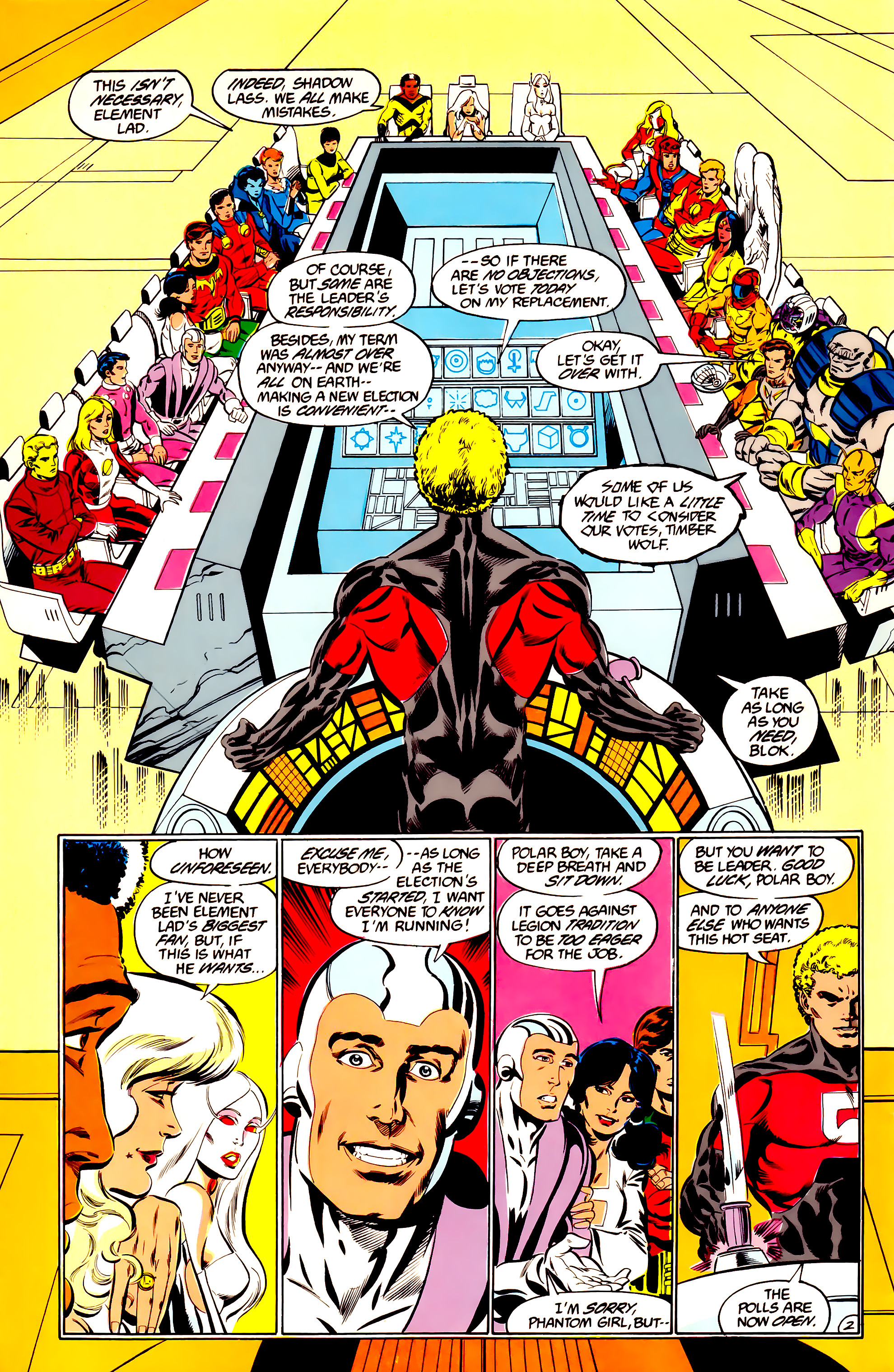 Legion of Super-Heroes (1984) 36 Page 2