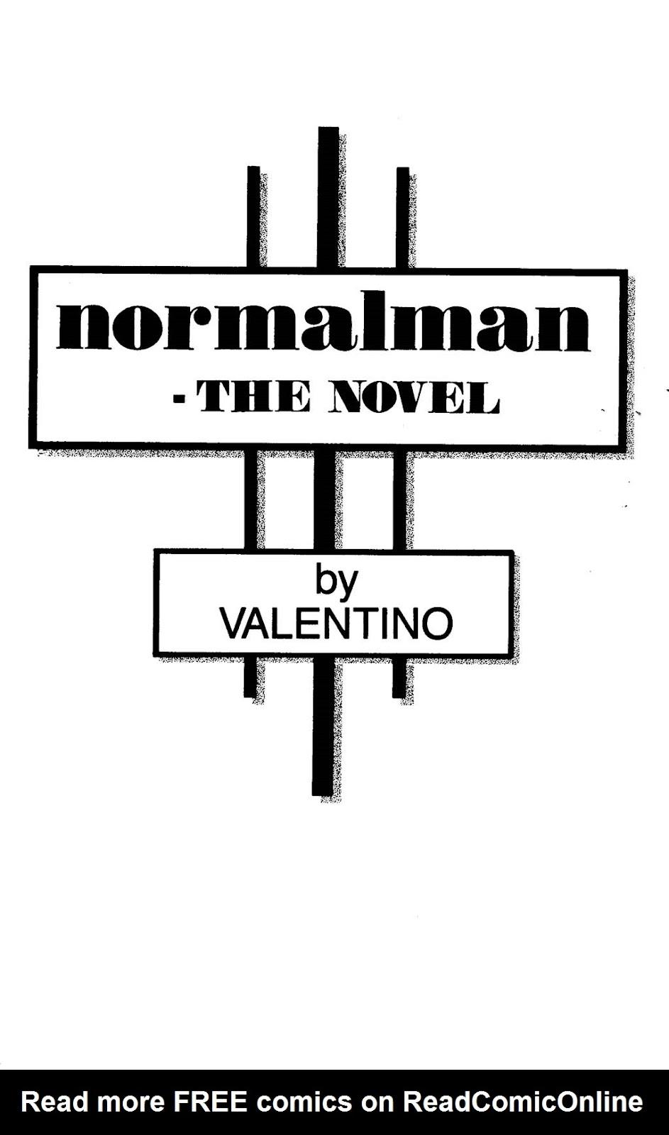 Read online Normalman - The Novel comic -  Issue # TPB (Part 1) - 4