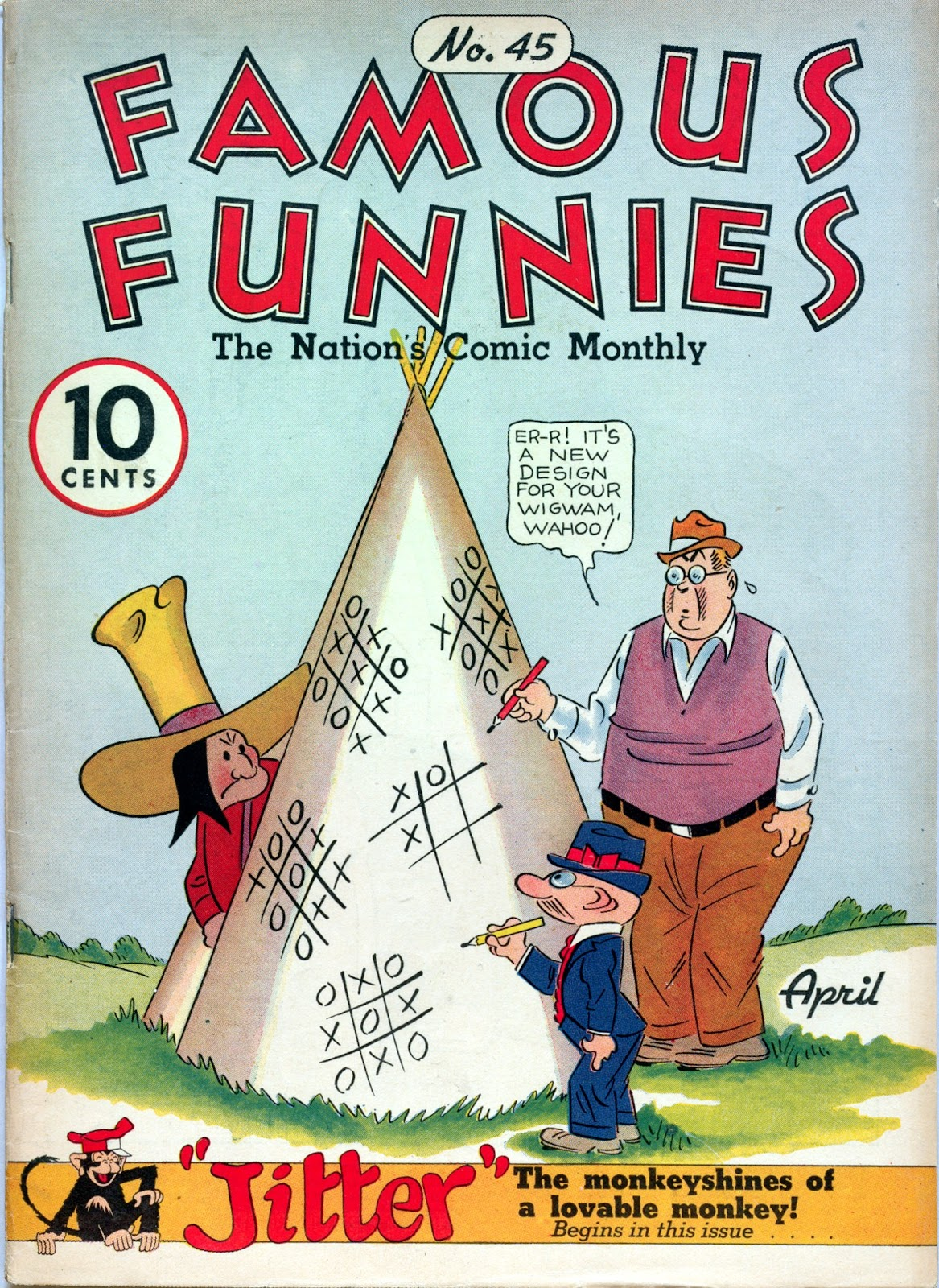 Read online Famous Funnies comic -  Issue #45 - 1