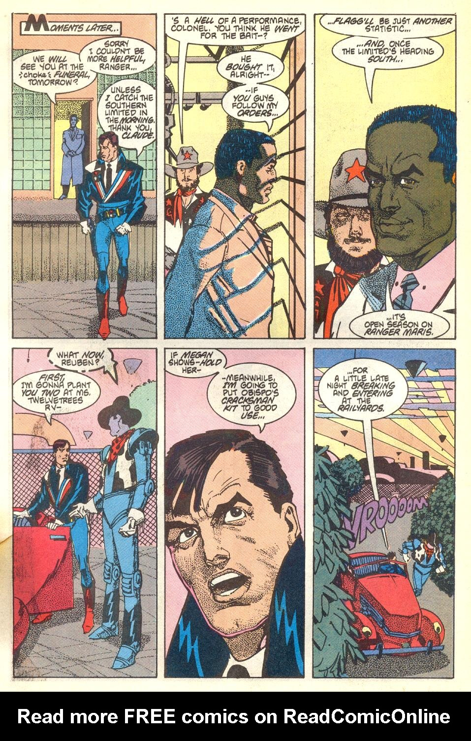 Read online American Flagg! comic -  Issue #17 - 18