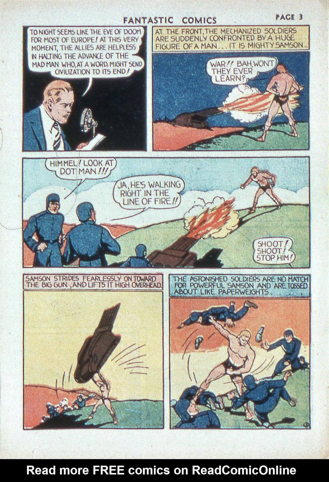 Read online Fantastic Comics comic -  Issue #2 - 5