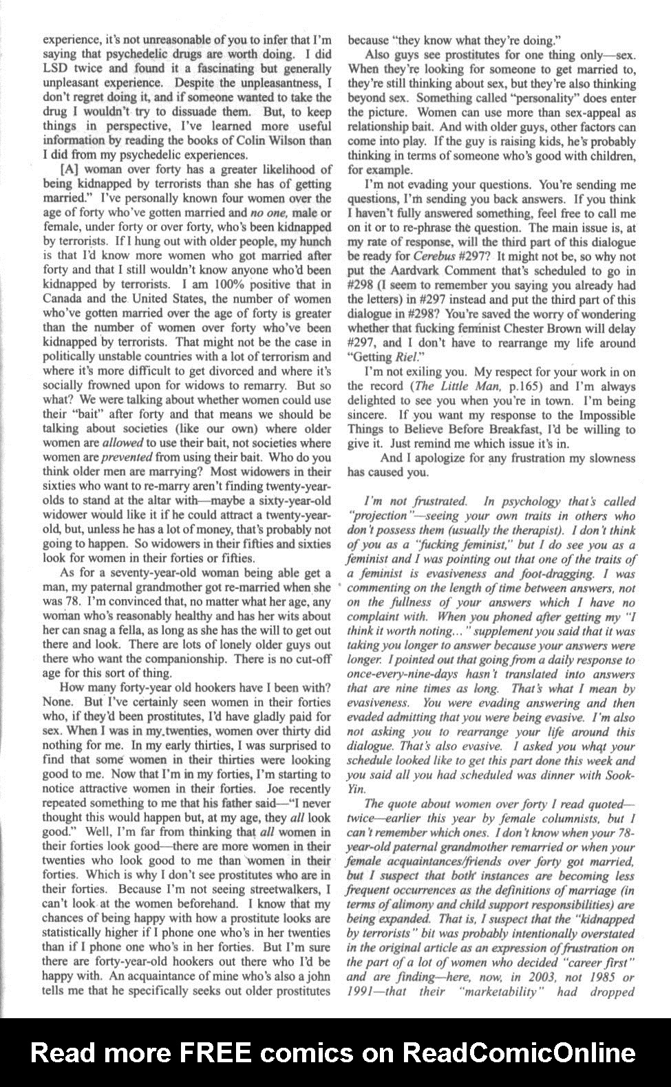 Cerebus Issue #296 #294 - English 41