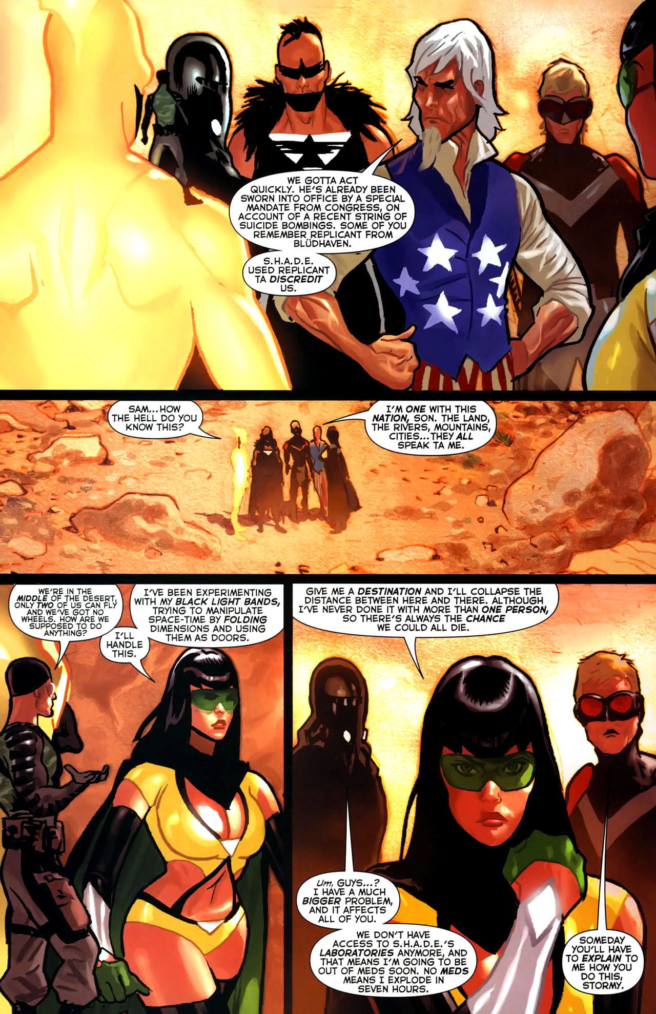 Read online Uncle Sam and the Freedom Fighters (2006) comic -  Issue #4 - 9