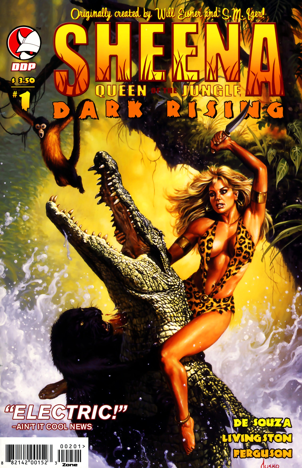Read online Sheena Queen of the Jungle: Dark Rising comic -  Issue #1 - 1