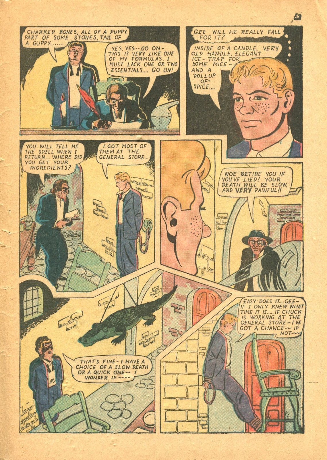 Read online Super-Magician Comics comic -  Issue #18 - 62