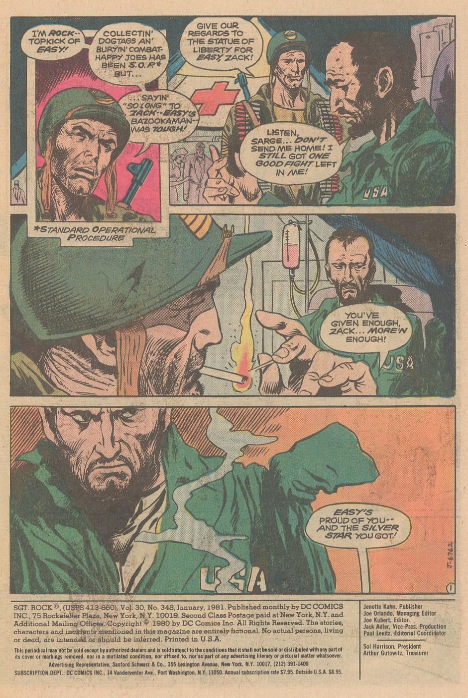 Read online Sgt. Rock comic -  Issue #348 - 2