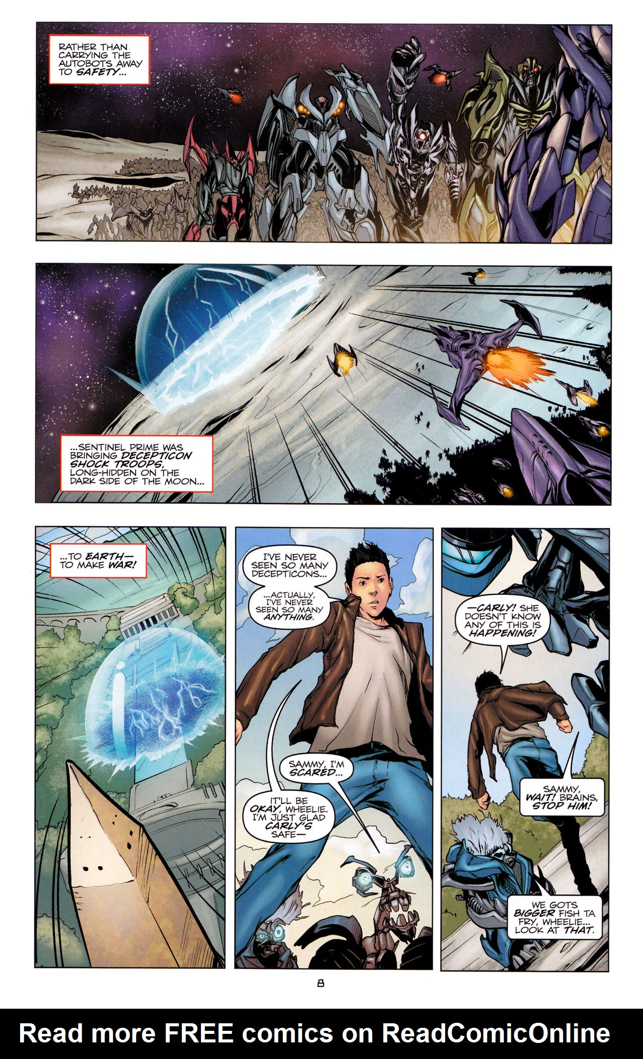 Read online Transformers: Dark of the Moon Movie Adaptation comic -  Issue #3 - 10