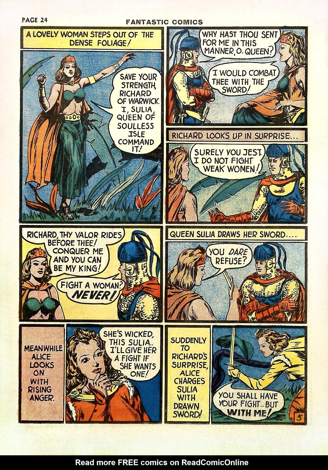Read online Fantastic Comics comic -  Issue #11 - 27