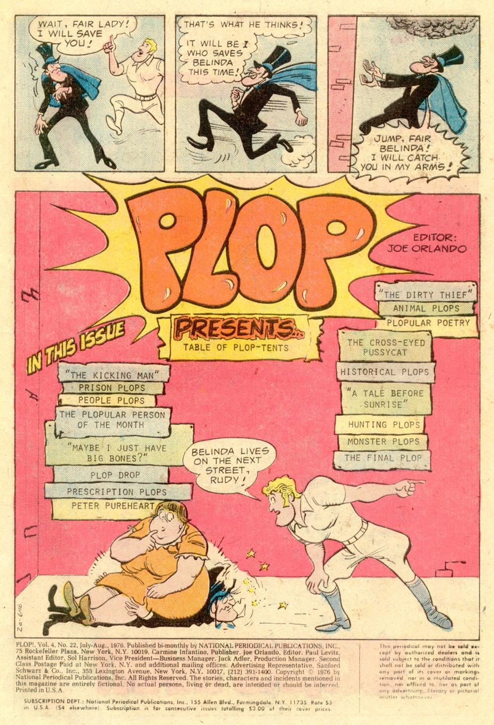 Read online Plop! comic -  Issue #22 - 3
