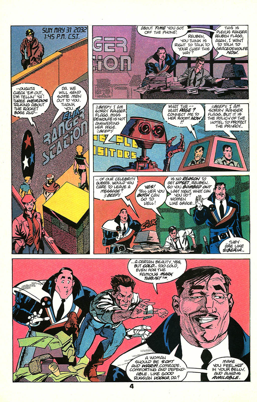 Read online American Flagg! comic -  Issue #48 - 6