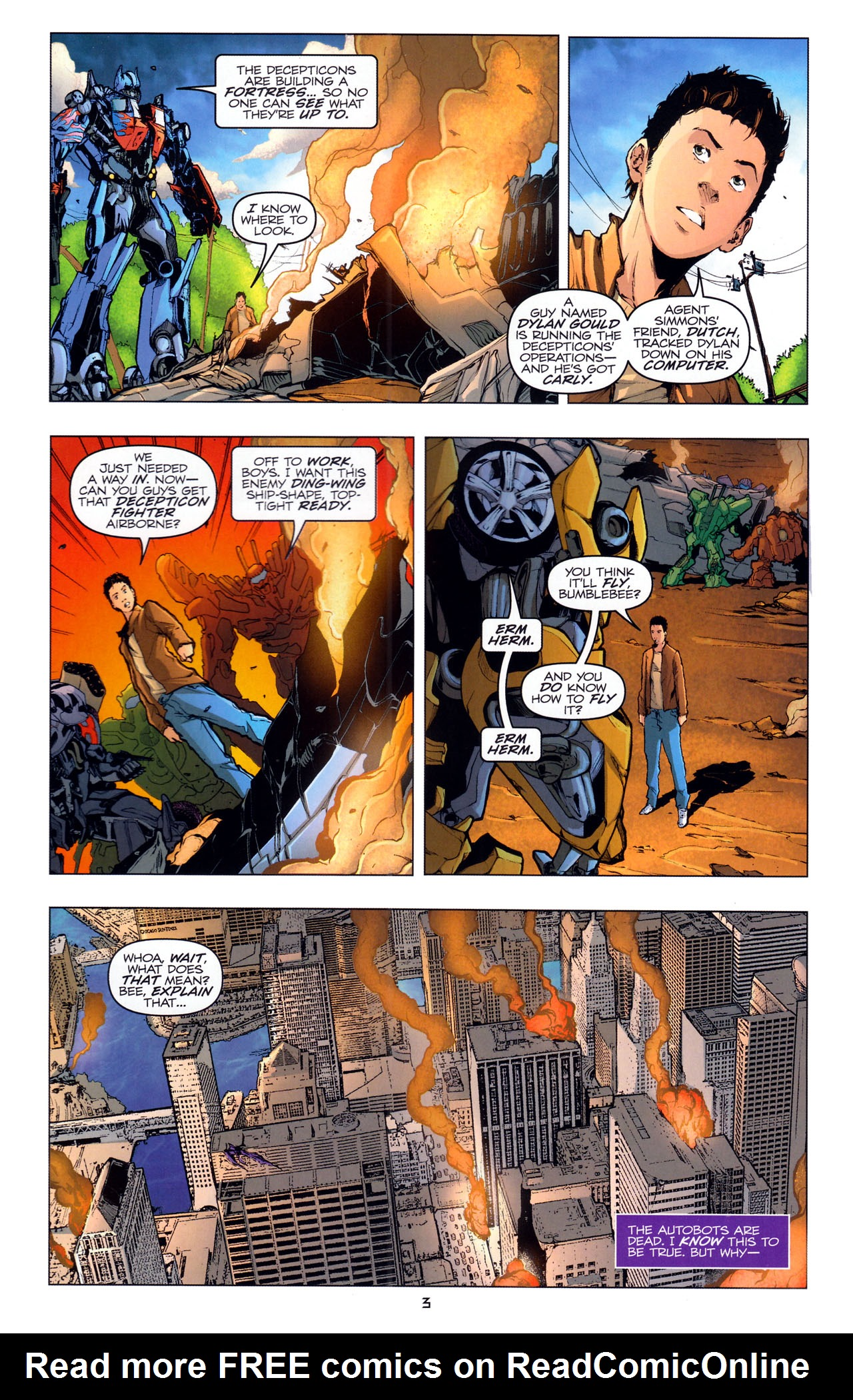 Read online Transformers: Dark of the Moon Movie Adaptation comic -  Issue #4 - 5