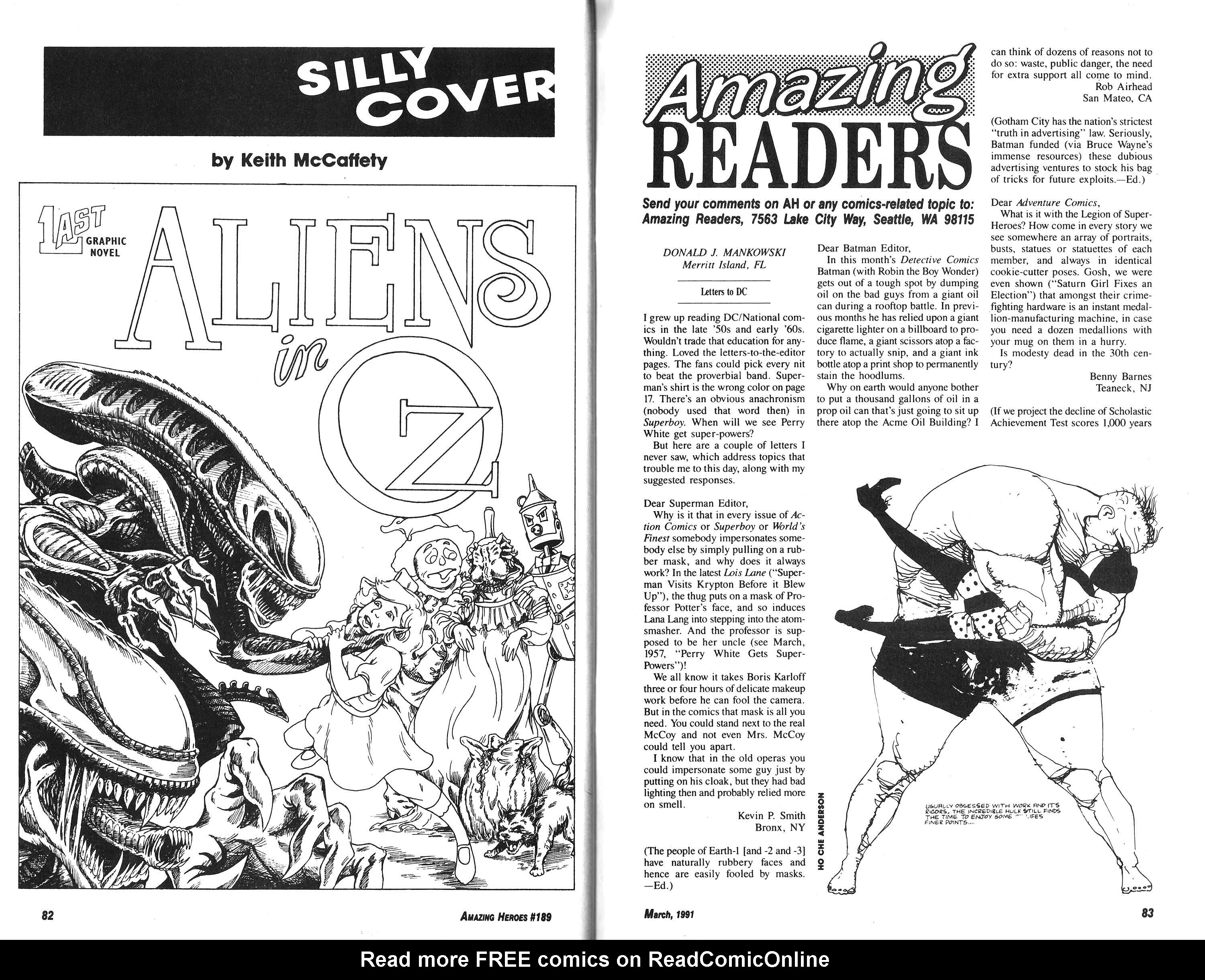 Read online Amazing Heroes comic -  Issue #189 - 42