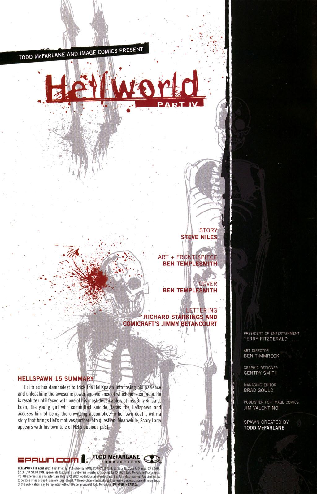 Hellspawn issue 16 - Page 1