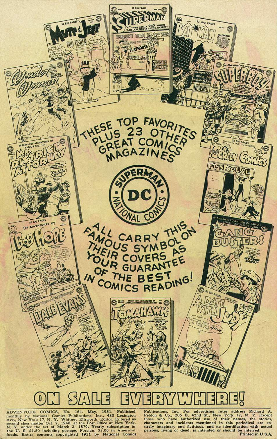 Read online Adventure Comics (1938) comic -  Issue #164 - 2