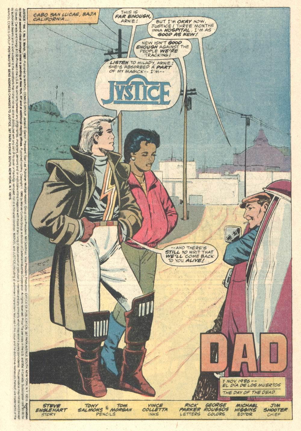 Read online Justice (1986) comic -  Issue #5 - 2