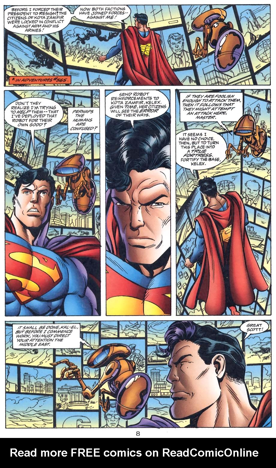 Read online Adventures of Superman (1987) comic -  Issue #566 - 9