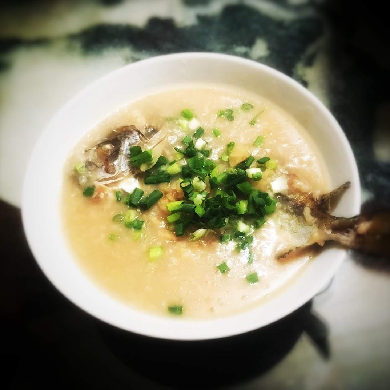 chinese, classic, congee, fish, Mottled spinefoot, Rabbit Fish, recipe, rice porridge, traditional, 果皮, 泥鯭粥, 褐藍子魚, jook