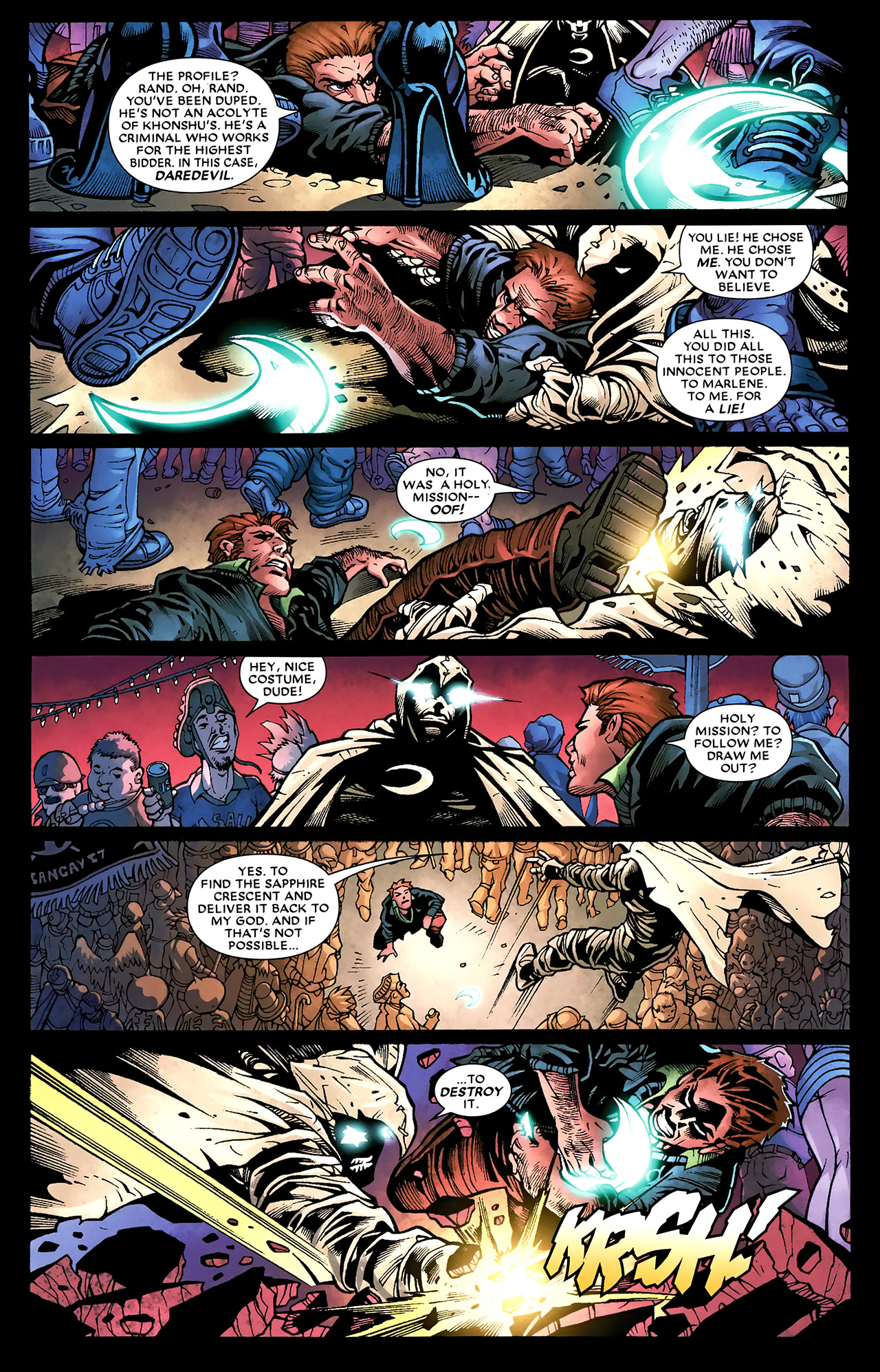 Read online Shadowland: Moon Knight comic -  Issue #3 - 16