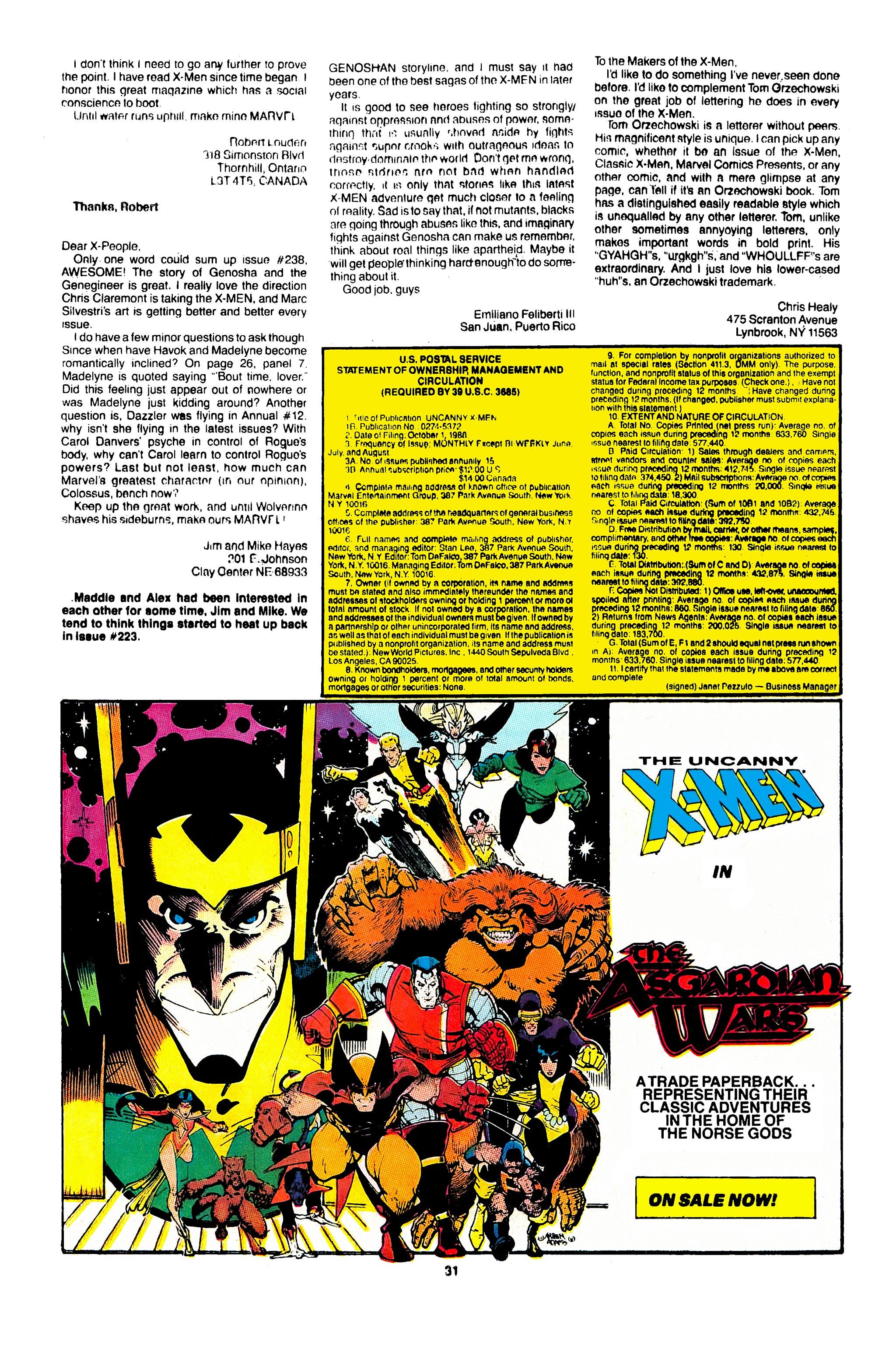Read online Uncanny X-Men (1963) comic -  Issue #246 - 25