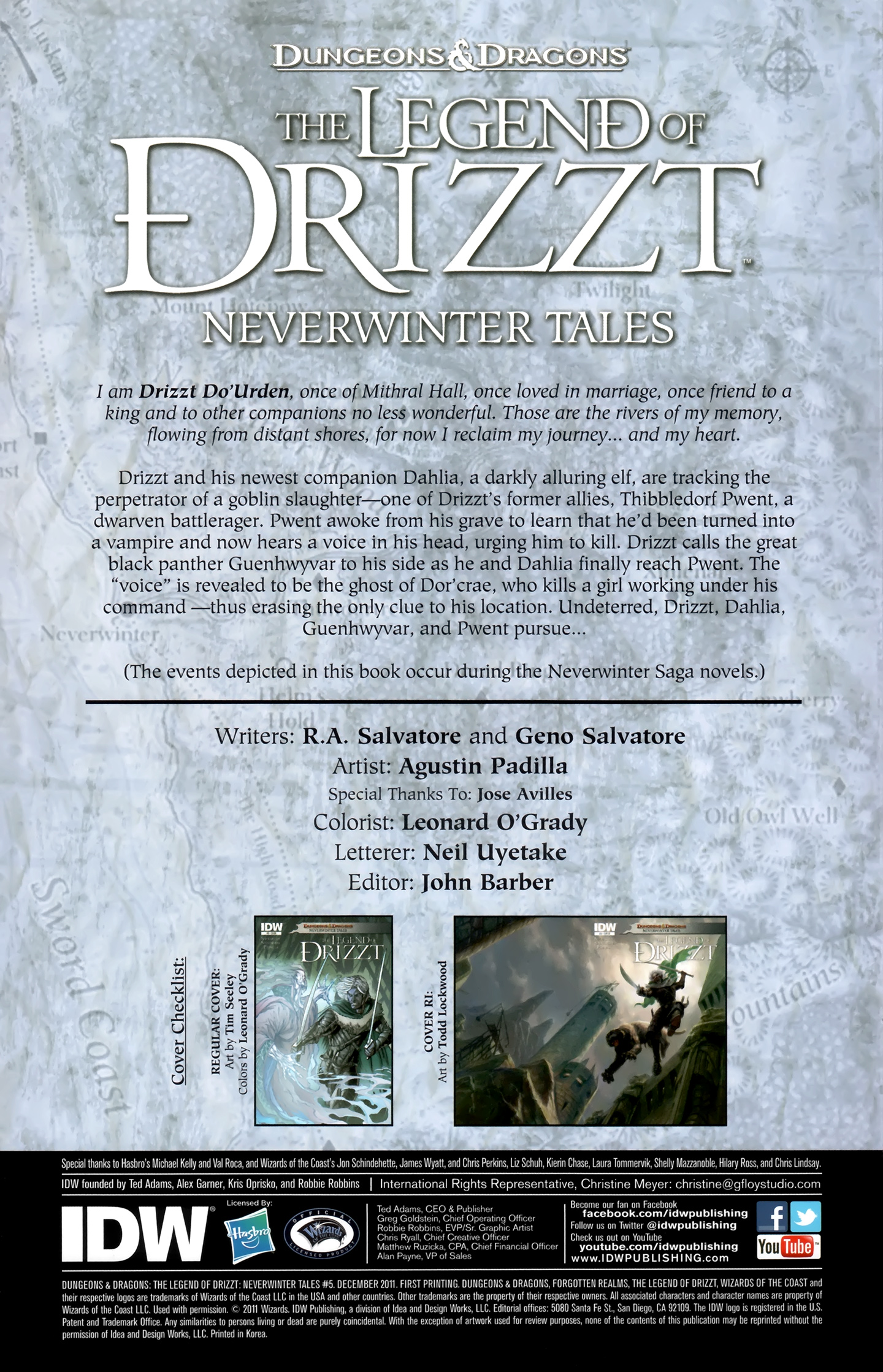 Dungeons & Dragons: The Legend of Drizzt: Neverwinter Tales 5 Page 2