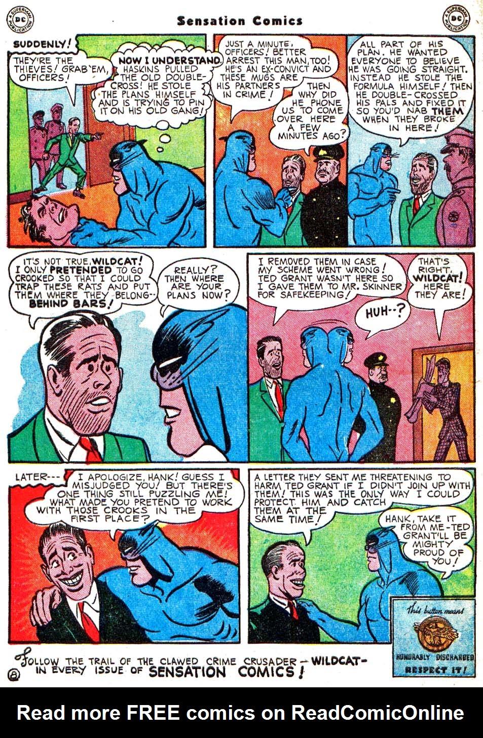 Read online Sensation (Mystery) Comics comic -  Issue #54 - 49