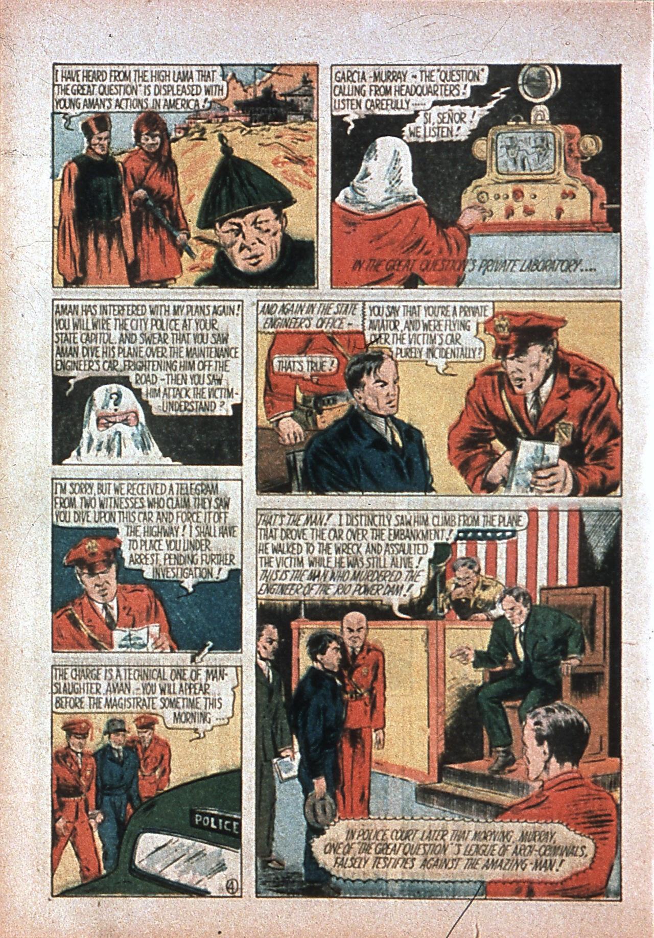 Read online Amazing Man Comics comic -  Issue #7 - 7