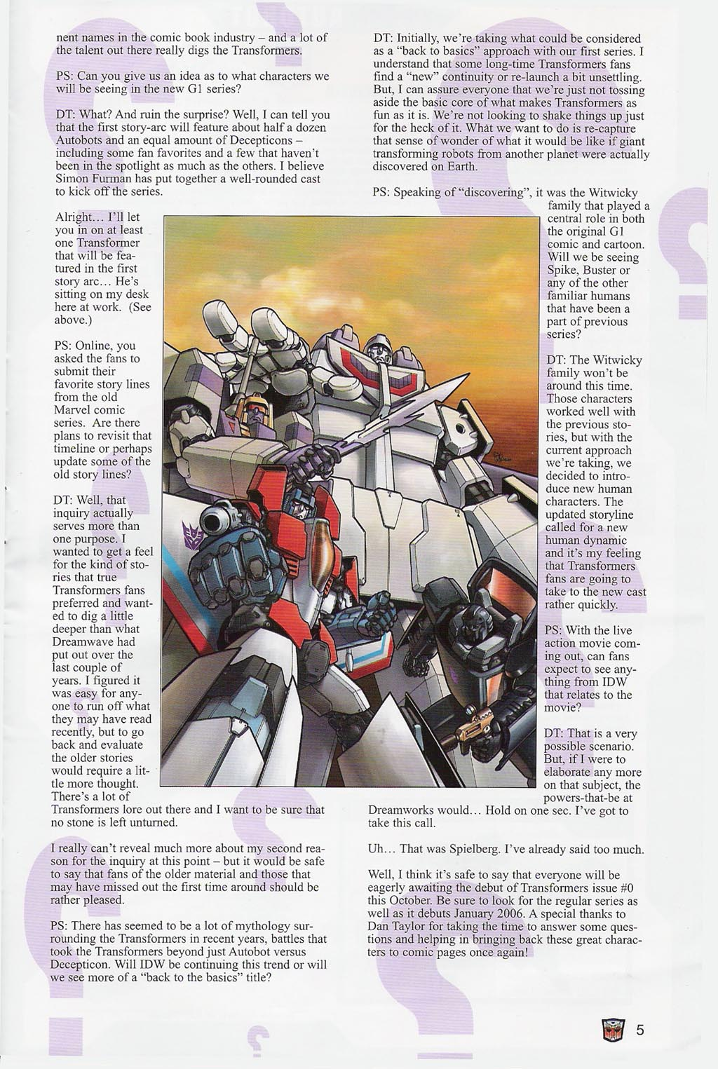 Read online Transformers: Collectors' Club comic -  Issue #4 - 5