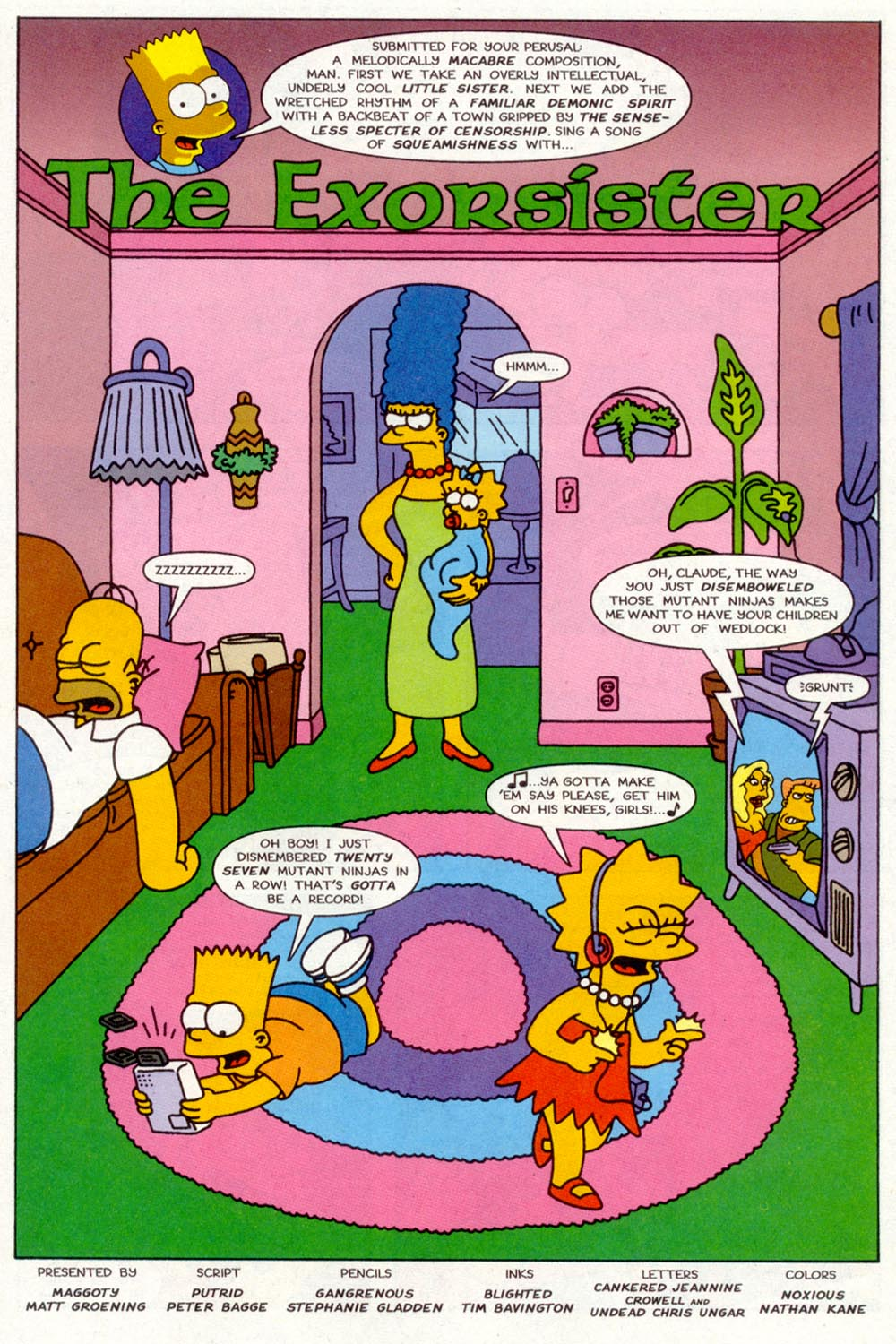 Read online Treehouse of Horror comic -  Issue #2 - 16