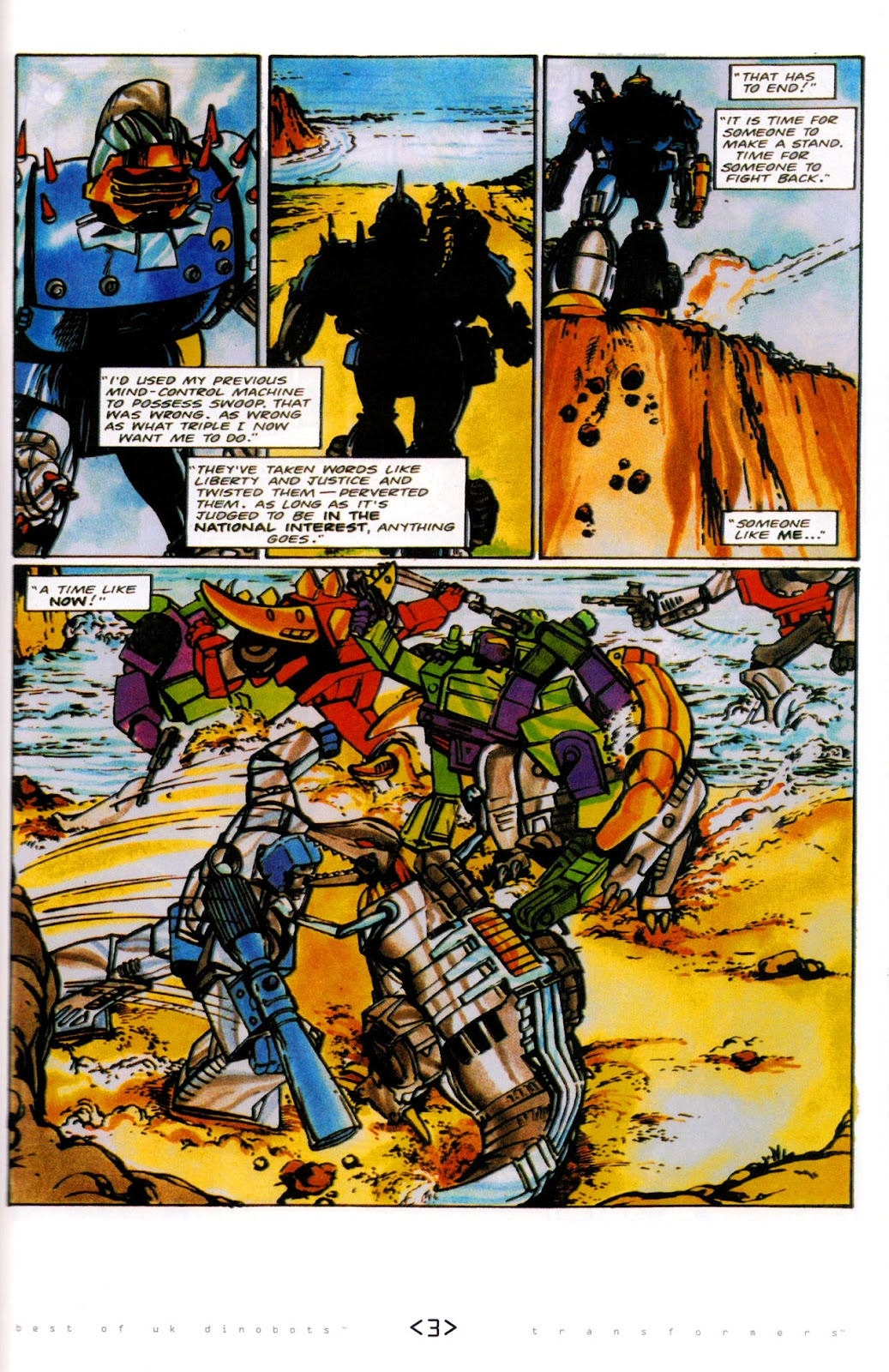 Read online The Transformers: Best of UK: Dinobots comic -  Issue #6 - 6